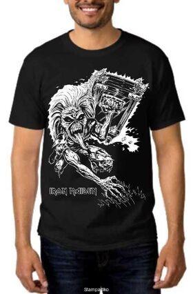 Heavy metal t-shirt με στάμπα Iron Maiden famous mascot Eddie